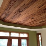 Pecky cypress tray ceiling detail